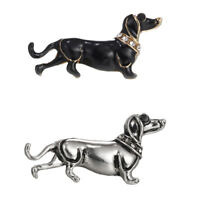 Dachshund Dog Brooch Animal Collar Lapel Pin Lovely Badge Women Men Kid Jewelry
