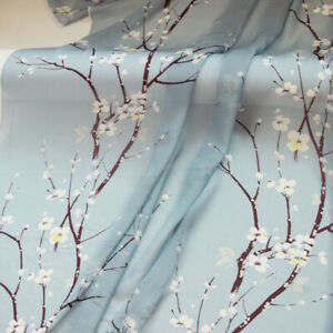 1yard*136cm Mulberry Silk Chiffon Wedding Dress Material Fabric Plum Floral