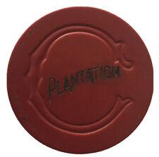 Vintage Illegal Poker Chip - Plantation (C-Mold) Hallandale, Florida