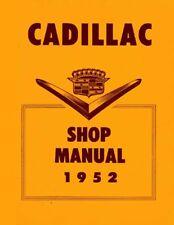 1952 Cadillac Service Shop Repair Manual Book Engine Drivetrain Electrical Oem