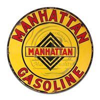 Vintage Design Sign Metal Decor Gas and Oil Sign - Manhattan Oil and Gasoline