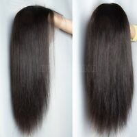 Silky Straight 360 Full Lace Front Wig 100% Virgin Brazilian Human Hair Wigs Mfd