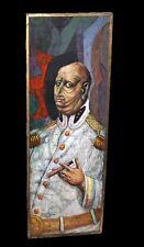 """70s Mexican Oil Portrait Painting """"Un Militar"""" by Bert Pumphrey (1916-2000)(Nic)"""