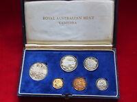 Australia.  1966 PROOF SET..  Dark Blue Case..  6 Coins