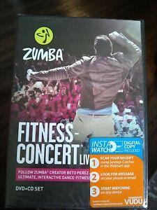 Zumba Fitness Concert Live DVD + CD Set Beto Perez Dance Fitness Workout