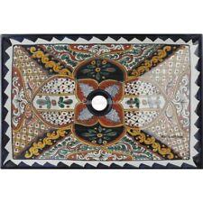 Mexican Talavera Vessel Sink Rectangular Handmade Ceramic VSR06