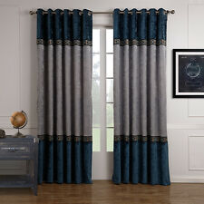 """2 Panels Heavy Thick Thermal Blackout Grommet Window Curtains Drapes 63"""" x 39"""""""