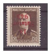 ALBANIA OCCUPAZIONE TEDESCA 1943 -10 QIND   NUOVO*  SOPRASTAMPA  CAPOVOLTA