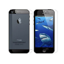 Front Back Clear Crystal Screen Protector Guard Shield For Apple iPhone 5S 5 4G