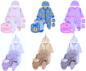 Baby Boys/Girls Baby-grows Bodysuits Sleep-suits Playsuits Gift Set 5 piece Sets