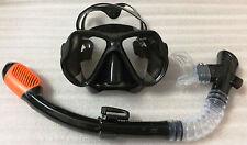 High quality Scuba Snorkeling Diving Mask/ full Dry Snorkel (black)