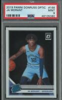 2019-20 Donruss Optic #168 Ja Morant Memphis Grizzlies RC Rookie PSA 9 MINT
