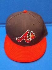 SIGNED Size 7 Atlanta Braves Baseball Ball Hat Cap Logo Fan New Era Authentic Co