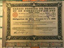 CREDIT FONCIER BRESIL & AMERIQUE DU SUD - Obligation 1929 - Rio de Janeiro