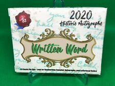2020 Historic Autographs Written Word Sealed Box