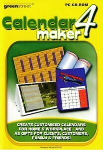 Calendar Maker 4 - Print & Create - PC CD-ROM Software - Brand New & Sealed