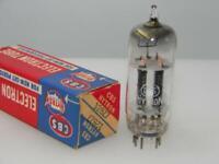 1953 CBS Hytron 12BZ7 NOS NIB Black Plates Slant Square Get Serious Tubes L303