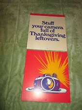 Kodak Thanksgiving Counter Display Ad easel National Photo Card