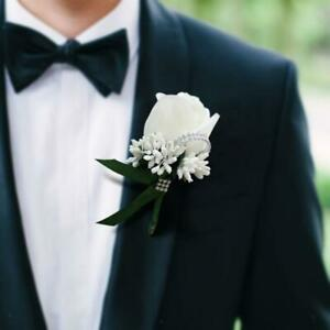 Wedding Corsage Artificial Rose Flower Boutonnieres for Wedding Boutonnieres