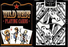 1 Deck Bicycle Wild West Black Standard Poker Playing Cards New Box