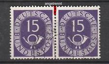 BRD 129, waagrechtes Paar, angetrennt s. Scan gestempelt #d656