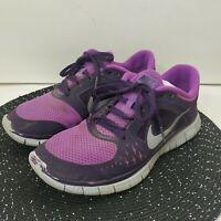 Women's Nike Free Run 3 + Plus 5.0 Running Shoes Laser Purple Pink Size 8.5