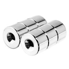 34 X 12 Inch Neodymium Rare Earth Countersunk Ring Magnets N35 6 Pack