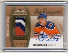 2015-16 Fleer Showcase Connor McDavid 3 COLOR Rookie Patch Autograph RC /299