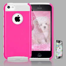 For iPhone 5C Hybrid Shockproof PC Hard Heavy Duty Rubber TPU Skin Case Cover