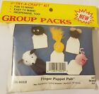 Finger Puppet Pals Kids' Pom Poms Group Craft Kit Vintage Merri Mac Enterprises
