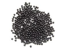 200pz  perline in Acrylic 4mm tondo colore nero bijoux