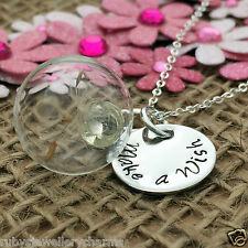 Handmade Birthday Gift, Dandelion Necklace, Glass Sphere, Handmade Jewellery