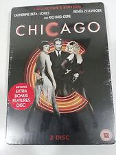 CHICAGO - 2 X DVD STEELBOOK ENGLISH RICHARD GERE ZETA-JONES ZELLWEGER NEW SEALED