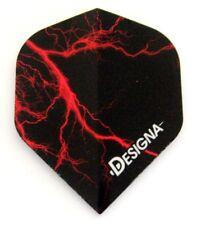 Designa Lightning Bolt Extra Strong Dart Flights - red