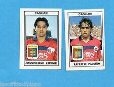 PANINI CALCIATORI 1989/90 -Figurina n.381- CAPPIOLI+PAOLINO-CAGLIARI -Recuperata
