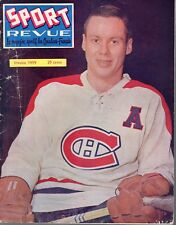 1959 (Jan.) Sport Revue, Hockey magazine, Tom Johnson, Montreal Canadiens ~ Fair