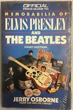 Official Price Guide To Memorabilia of Elvis Presley And The Beatles First Edit.