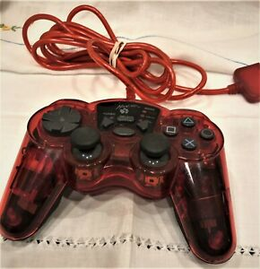 MadCatz Clear Red Dual Force Playstation Wired Controller Model 8026