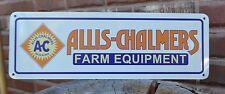 ALLIS - CHALMERS FARM EQUIPMENT METAL SIGN TRACTORS  AC FARMING EQUIPMENT