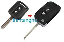 NISSAN MICRA NOTE ALMERA X-TRAIL NAVARA QASHQAI 2 BUTTON FLIP KEY FOB CONVERSION