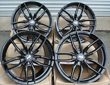 "18"" BLACK IOTA ALLOY WHEELS FOR SUBARU FORESTER IMPREZA LEGACY BRZ OUTBACK 5X100"