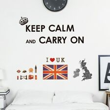 Decowall UK Map Union Jack Nursery Kids Removable Wall Stickers Decal DW-1309