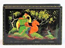 Boîte bijoux collection 15x10 miniature KHOLOUI peint main signé Artisanat russe