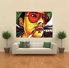 Fractal LUCE Johnny Depp HUNTER S Thompson GIGANTE art print poster muro g1168