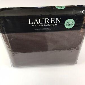 Ralph Lauren Spencer dark chocolate Matelasse Full / Queen Coverlet Brown