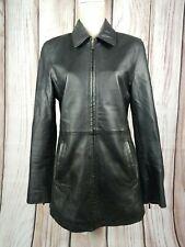 Vintage Amaranto Genuine Leather Full Zip Jacket Coat Goth Steampunk Size 12