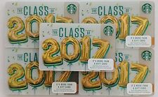 2016 ORIGINAL STARBUCKS GIFT CARDS ~CLASS of 2017 ~NO VALUE PIN# COVER LOT of 50