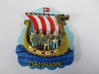 Dänemark Wikinger Schiff Poly Magnet,Denmark Skandinavien,Neu