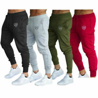 Men Casual Cotton Solid Color Drawstring Jogging Tracksuit Slim Skinny Trousers