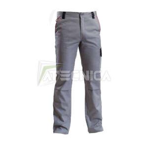 Hose von der Arbeit aus Baumwolle 260gr Multi Taschen aerre Worker Grau S-XXL